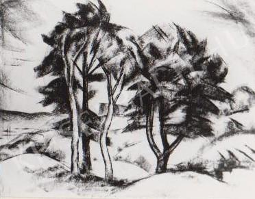 Gábor Jenő - Négy fa festménye