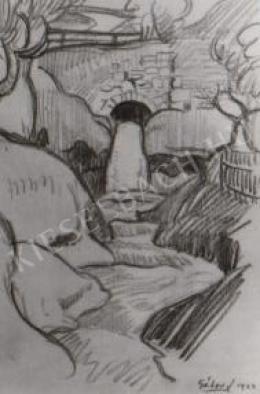 Gábor Jenő - A tettyei patak vízesése (1922)