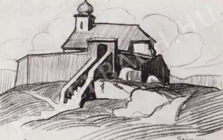 Gábor Jenő - Mindszentek temploma festménye
