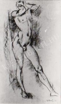 Gábor Jenő - Álló akt festménye