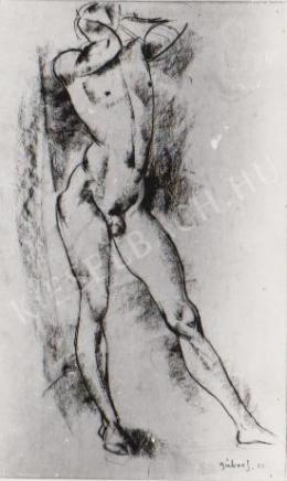 Gábor Jenő - Álló akt (1922)