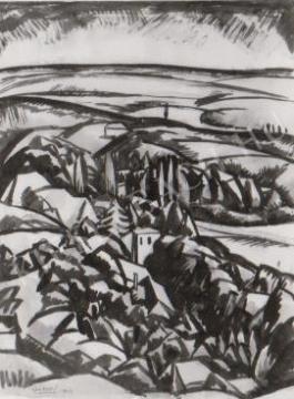 Gábor Jenő - A tettyei vendéglő festménye