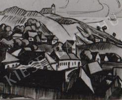 Gábor Jenő - Rálátás a Tettye völgyére festménye