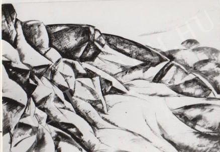 Gábor Jenő - Sziklák festménye