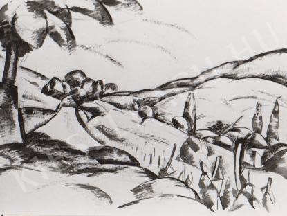Gábor Jenő - Táj festménye