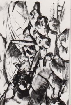 Gábor Jenő - Dombos táj festménye