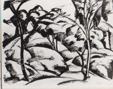 Gábor Jenő - A Tettye alján festménye