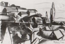 Gábor Jenő - Háztetők a Tettyén (1922)