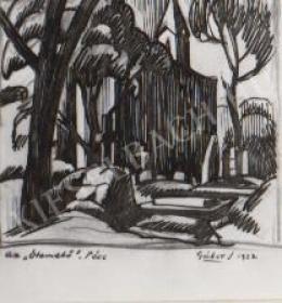 Gábor Jenő - Az Ótemető Pécsett (1922)