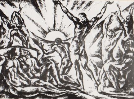 Gábor Jenő - Napfelkelte festménye