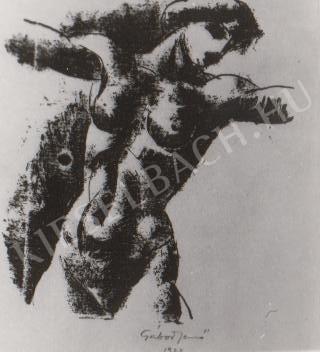 Gábor Jenő - Női akt tanulmány festménye