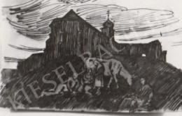 Gábor Jenő - Mindszentek temploma K. felől (1922)