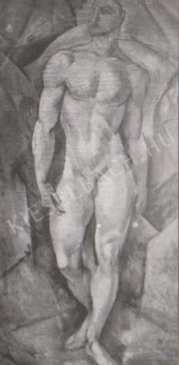 Gábor Jenő - Álló férfiakt (1923)
