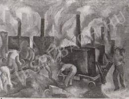Gábor Jenő - Aszfaltozzák a Malom utcát (1923)