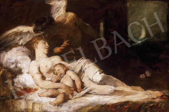 Benczúr Gyula - Hypnos (Álom) (vázlat) | 9. Aukció aukció / 143 tétel