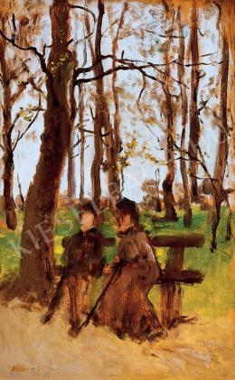 Bruck, Lajos - At Forest Bench