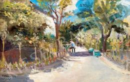 Berény, Róbert - Sunlit Yard, 1902 (1902)