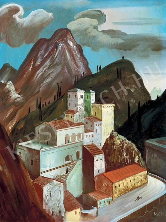 Molnár C. Pál - Városkép festménye