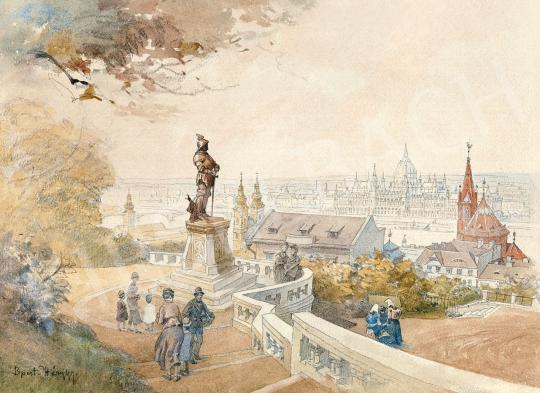 Háry, Gyula - View from Buda Castle   45th Auction auction / 3 Item