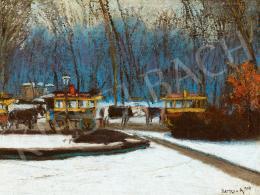 Berkes Antal - Omnibuszok a Városligetben, 1909 (1909)