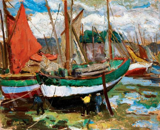 Tibor, Ernő - Dutch Sailling Boats in the Port | 45th Auction auction / 10 Item