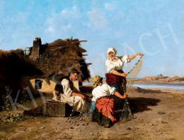 Böhm Pál - Halászat után a Tisza-parton