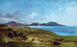 Brodszky Sándor - Balatoni táj a Badacsonnyal Szigliget felől (1870-es évek)