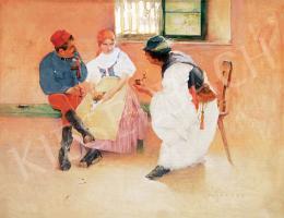 Hollósy Simon - Két tűz között (1892 körül)