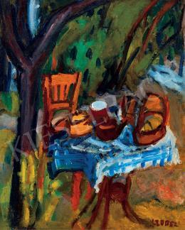 Czóbel Béla - A művész reggeliző asztala