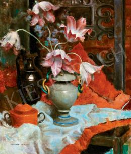 Kontuly Béla - Műtermi csendélet tulipánokkal