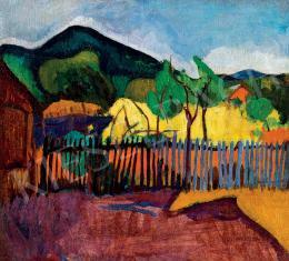 Bornemisza Géza - Kilátás a hegyre (1909 körül)