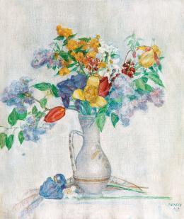 Kunffy, Lajos - Flowers in a Vase, 1933
