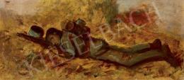 Mednyánszky László - Fekvő katona