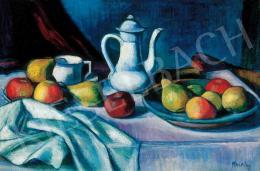 Kmetty János - Csendélet kancsóval és gyümölcsökkel