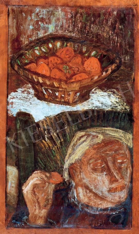 Ámos Imre - Önarckép szobában | 45. Aukció aukció / 127 tétel