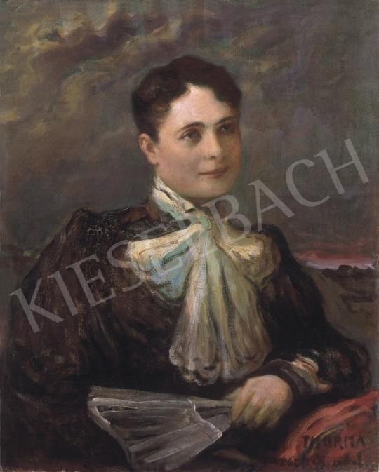Thorma János - Fehér kendős hölgy | 9. Aukció aukció / 163 tétel