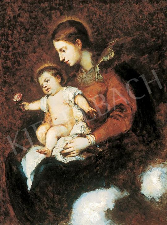 Benczúr, Gyula - Madonna with the Child Jesus, c.1870 | 45th Auction auction / 155 Item