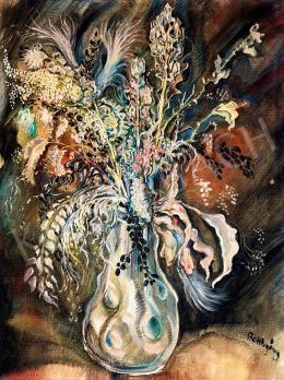 Batthyány Gyula - Virágcsendélet szecessziós vázában