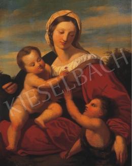 Ismeretlen festő, 1850 körül - Madonna gyermekekkel