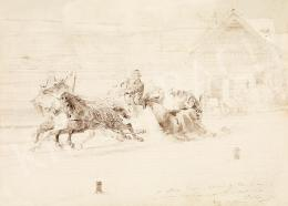 Zichy, Mihály - Travelling on a Sleigh, 1876