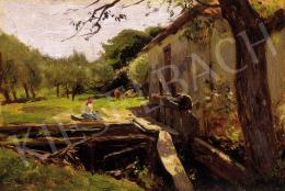 Edvi Illés, Aladár - In the yard