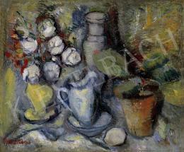 Diener-Dénes Rudolf - Csendélet pünkösdi rózsákkal