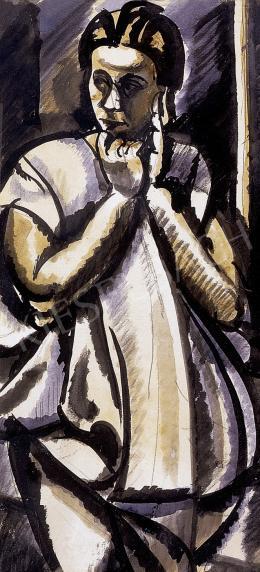 Uitz Béla - Nő fehér ruhában