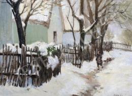 Szlányi Lajos - Szolnoki utca télen