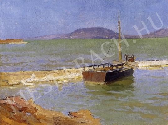 Nádler Róbert - Balatoni táj I. festménye
