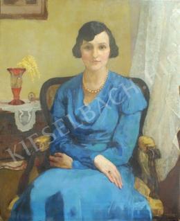 Vidovszky Béla - Kék ruhás nő