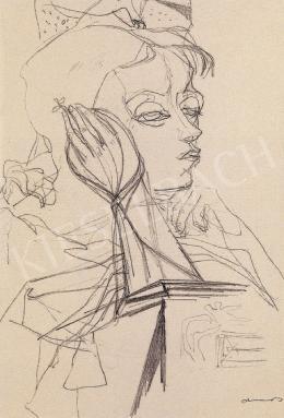 Ámos, Imre - Margit Anna virággal