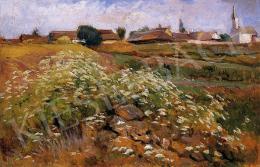 Deák Ébner, Lajos - Landscape with houses