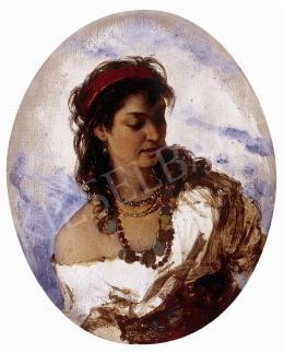 Böhm, Pál - Girl in a necklace