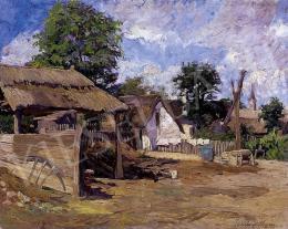 Zemplényi Tivadar - Napsütötte tanyaudvar